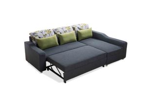 Spacious Fabric Section Sofa Set with Pull out Bed pictures & photos