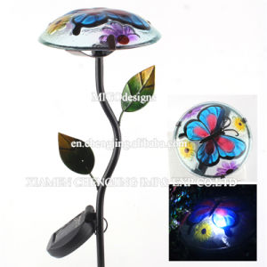 Elegant Solar Lights with Hand-Printing for Yard Decoration Garden Stake pictures & photos