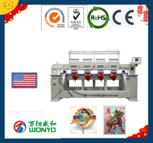 Computerized 12 Needle Multi Head Embroidery Machine for Cap/T-Shirt/Flat Embroidery pictures & photos