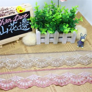 Factory Stock Wholesale 6.5cm Width Polyester Embroidery Trimming Fancy Net Lace for Garments & Home Textiles & Curtains Accessory (BS1110) pictures & photos