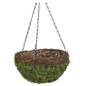 Natural Moss & Wicker Hanging Basket pictures & photos