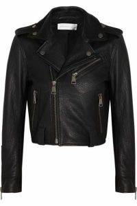 Cultivate One′s Morality Fake Leather Shorts Jacket pictures & photos