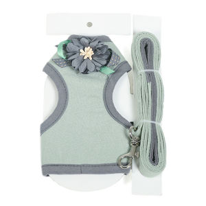 Grace Quality Flower Pet Harness with Leads Dog Outdoor Leash pictures & photos