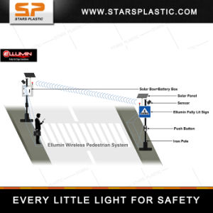 Smart Pedestrian Solar Traffic Sign for Road Safety pictures & photos