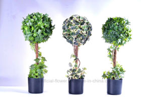 Various Color Artificial Plant of 10′′ IVY Ball Topiary in The Plastic Pot