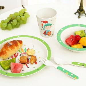 Eco-Friendly New Design Baby Bamboo Fiber Tableware Bamboo Fiber Dinnerware Sets (YK-BS1007) pictures & photos