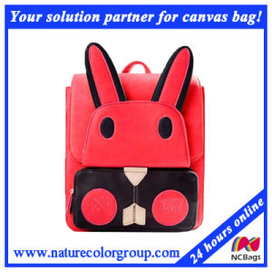 Little Rabit PU Bag Leather School Bag Backpack for Lovely Students (SBB-013) pictures & photos