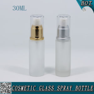 30ml Refillable Cosmetic Frosted Glass Perfume Bottle with Mist Sprayer pictures & photos