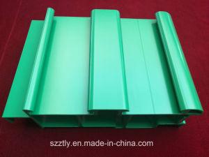 Green Powder Coated Custom Aluminum Extrusion Profile pictures & photos