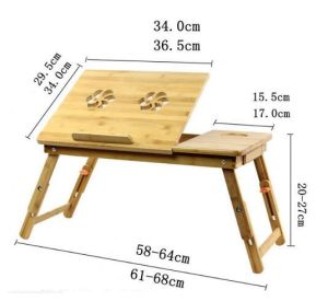 Adjustable Bamboo Computer Laptop Desk /Foldable Computer Table pictures & photos