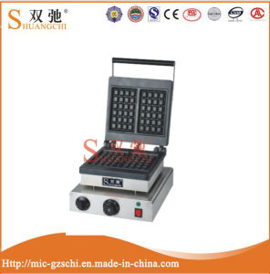 Electric Single Head 1.5kw Square Waffle Maker Machine pictures & photos