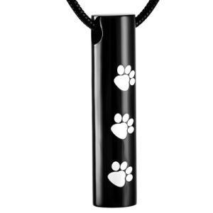 Pet Paw Print Cremation Jewelry Pendant Wholesale Stainless Steel Snake Chain Accessories pictures & photos