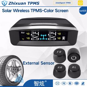 TPMS Solar Wireless Tyre Tire Pressure Monitor System External Sensors China Factory pictures & photos