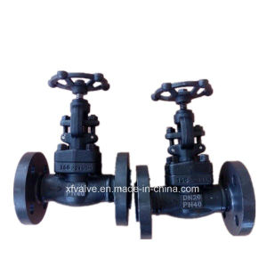 DIN Pn40 Forged Carbon Steel A105 Flange End Globe Valve pictures & photos