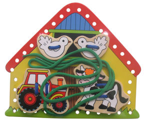 Wooden Lacing Puzzle Game Toy pictures & photos