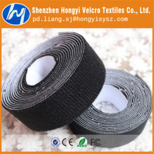 Durable Black Adhesive Velcro Tape Hook and Loop pictures & photos