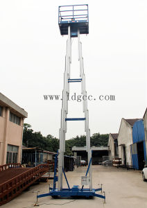 12meters Aluminium Hydraulic Mast Aerial Work Platform (GTWY12-300SA) pictures & photos