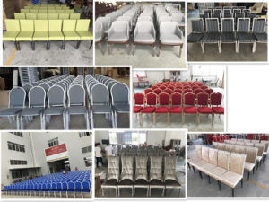High Quality Aluminum Wedding Tiffany Chair with Net Back pictures & photos