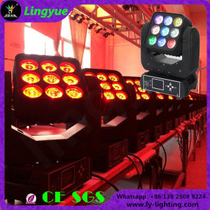 9PCS 12W 4in1 Disco Moving Head Light LED Beam Matrix 3X3 pictures & photos