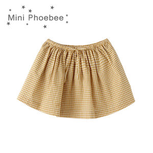 Cotton Cute Plaid Skirts for Little Girls Summer pictures & photos