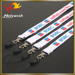 Promotion Bulldog Clip Woven Label Logo Lanyard Custom Design Printed pictures & photos