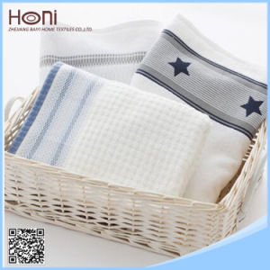 100% Cotton Plain Dyed Face and Hand Towel Satin Towel Sets pictures & photos