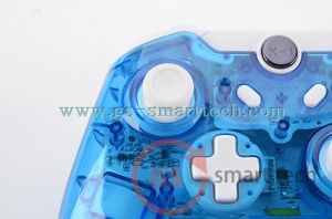 Double Vibration Wireless Transparent Flash Game Controller for xBox One pictures & photos