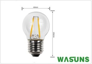 2W E27 G45 LED Filament Light Bulb with Ce RoHS pictures & photos