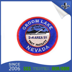 Custom Round Shape Woven Patch Woven Label for Uniform pictures & photos