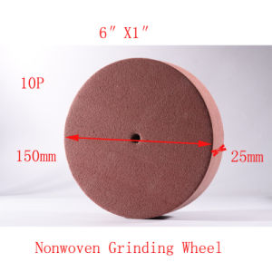 "6""X1"" 10p Resin Bond Grinding Wheel Flap Wheel Plastic Pad pictures & photos"