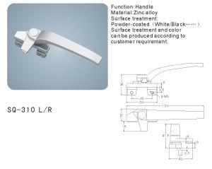 Zinc Alloy Handle for Windows/Doors Hardware (SQ-310 L/R) pictures & photos