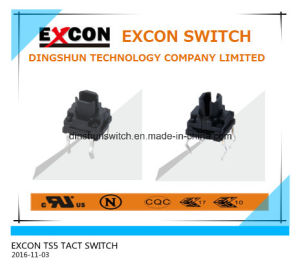 China Switch Manufacture for Ts5 Series Tact Mini Portable Switch with Lamp Anti-Corrosion Switch pictures & photos