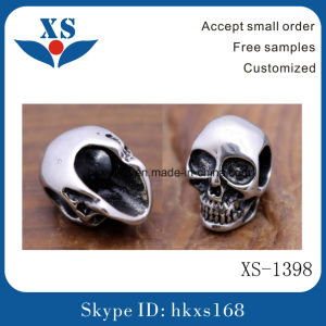 Fashion Stainless Steel Skull Bead jewelry Logo Bead