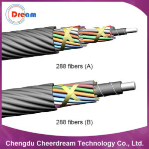 288 Core Layer Stranding Fiber Optic Micro Cable for Microduct pictures & photos