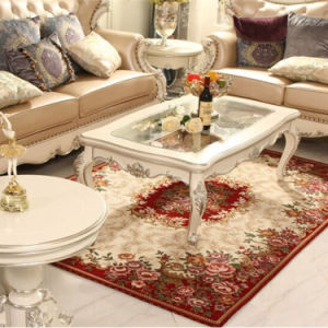 Oriental Design and 100% Polyester Material Felpudos Carpets pictures & photos