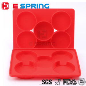 Hamburger Cooking Tools Round Silicone Burger Press Container with 5 Circular Divisions pictures & photos