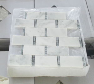 Marble Mosaic Tile Rectangle Oriental White Marble Mosaic pictures & photos