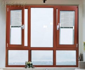 Interior or Exterior Tempered Glass Aluminium Window with SGS Approved pictures & photos