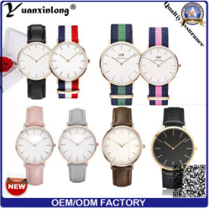 Yxl-015 Stainless Steel Back Case Dw Style Watch for Men and Women pictures & photos