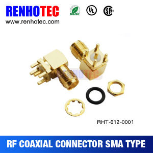 SMA Female PCB Type RF Coaxial Connector pictures & photos