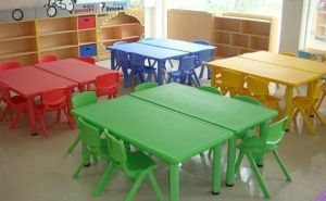 N Ursery School Furniturekids Plastic Table and Chair Set pictures & photos