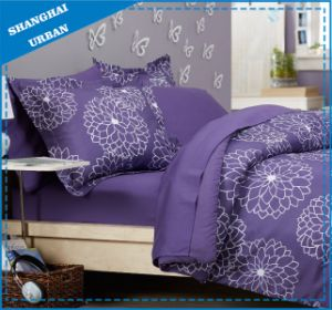 7 Piece Jacquard Gray Pattern Polyester Comforter Set pictures & photos