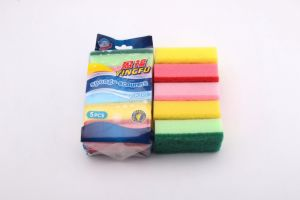4colors Red Green Black Kitchen Cleaning Sponge Scourer Pad pictures & photos