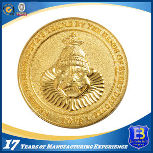 Gold Plated Custom Souvenir Coin with Sandblasted (Ele-C115) pictures & photos