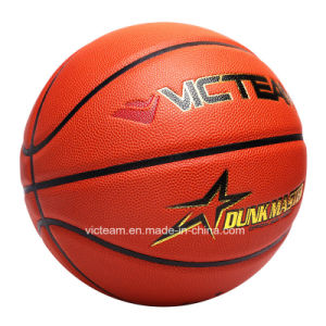 Custom Logo PU Leather Size 7 6 5 Match Basketball pictures & photos