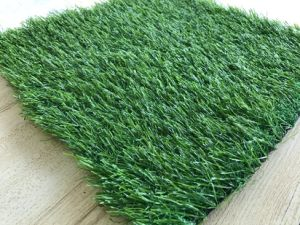Tricolor Artificial Turf with Nerve Blade pictures & photos