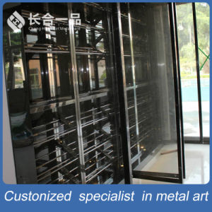 Wholesale Customized Antique Luxury Stainless Steel Wine Cellar Cabinet Furniture pictures & photos