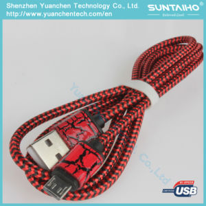 1/2/3m Nylon Braided Micro USB Data Cable for Android pictures & photos