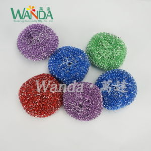 Shiny Kitchen Plastic Cleaning Ball Mesh Scourer for Metal Utensils pictures & photos