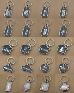 Wholesale Custom Blank Metal Sublimation Keychain pictures & photos